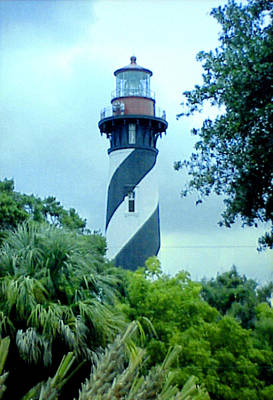 Poster featuring the photograph St Augustine Lighthouse by Frederic Kohli