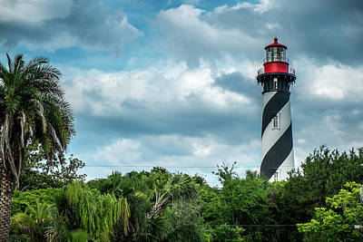 Poster featuring the photograph St. Augustine Lighthouse by Louis Ferreira