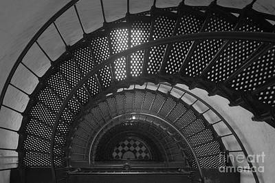 St. Augustine Lighthouse Spiral Staircase II Poster by Clarence Holmes