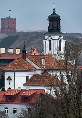 St Bartholomew And Vilnius Castle Poster