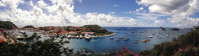 Poster featuring the photograph St. Barths Harbor At Gustavia, St. Barthelemy by Lars Lentz
