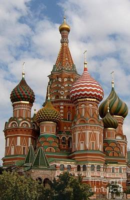 Poster featuring the photograph St. Basil's Cathedral by Robert D McBain