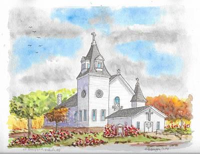 St. Boniface Catholic Church, Walhalla, North Dakota Poster by Carlos G Groppa