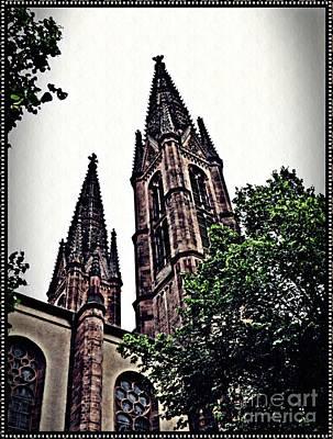 St Boniface Church Towers   Poster by Sarah Loft