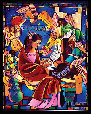 St. Cecilia - Mmcca Poster by Br Mickey McGrath OSFS