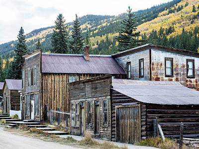Poster featuring the photograph St. Elmo A Colorado Ghost Town by Nadja Rider