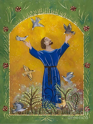 St. Francis And Birds Poster