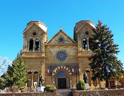 St. Francis Cathedral Santa Fe Nm Poster