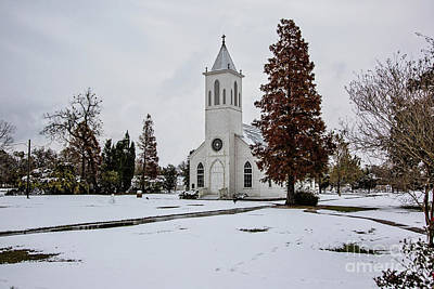 St. Gabriel Church In The Snow Poster