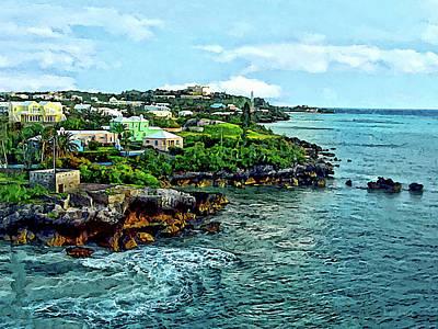 St. George Bermuda Shoreline Poster by Susan Savad