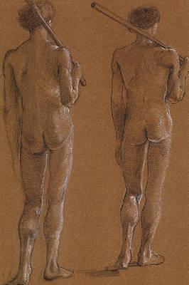 St George Series Male Nude Poster by Edward Burne-Jones