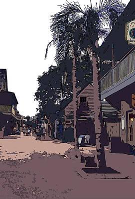 St. George Street Poster by Mindy Newman