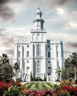 St George Temple - Tower Of The Lord Poster by Brent Borup