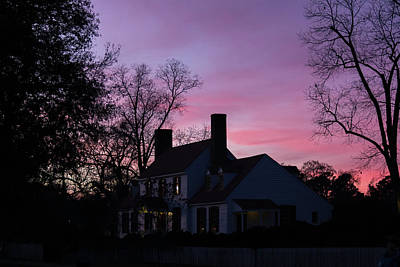 St George Tucker House At Sunset Poster by Teresa Mucha