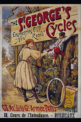 St Georges Cycles Vintage Cycle Poster Poster by R Muirhead Art