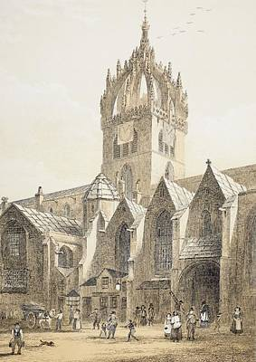 St. Gile S Cathedral Or The High Kirk Poster by Vintage Design Pics