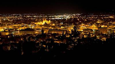 St Helena Cathedral And Helena By Night Poster