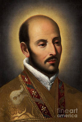 St Ignatius Of Loyola Poster by Italian School