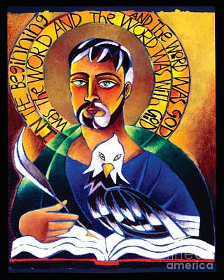 St. John The Evangelist - Mmjev Poster by Br Mickey McGrath OSFS