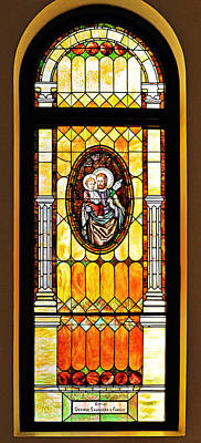 St Joseph Immaculate Conception San Diego Poster by Christine Till