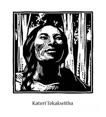 St. Kateri Tekakwitha - Jlkte Poster by Julie Lonneman
