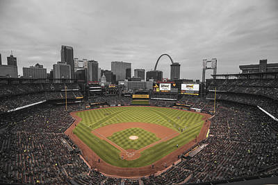 St. Louis Cardinals Busch Stadium Creative 17 Poster by David Haskett