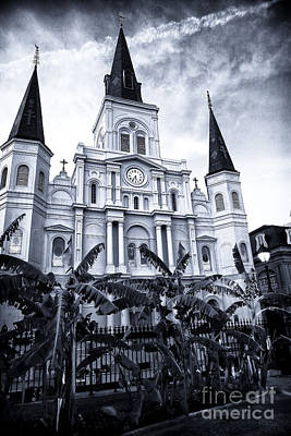 St. Louis Cathedral At Night Poster by John Rizzuto