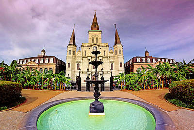 Poster featuring the photograph St. Louis Cathedral - New Orleans - Louisiana by Jason Politte