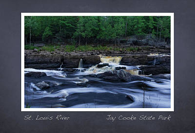 Poster featuring the photograph St Louis River Scrapbook Page 1 by Heidi Hermes