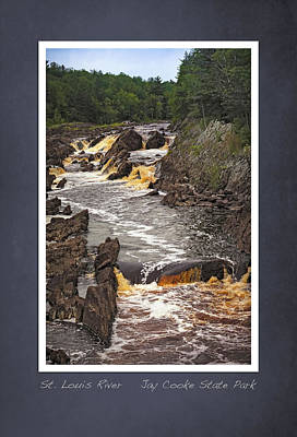 Poster featuring the photograph St Louis River Scrapbook Page 3 by Heidi Hermes