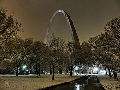 St. Louis - Winter At The Arch 002 Poster
