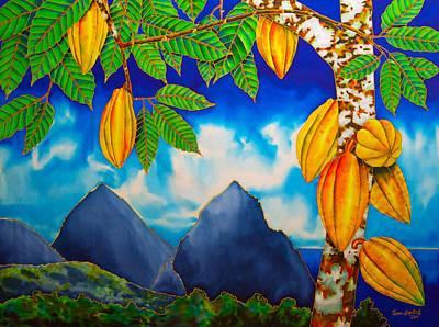 St. Lucia Cocoa Poster
