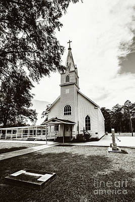 St. Margaret Catholic Church - Springfield La Poster by Scott Pellegrin
