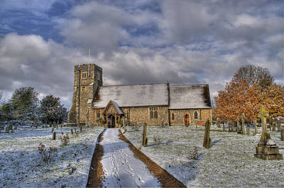 St Margarets Church Ridge Hertfordshire Poster by Chris Thaxter