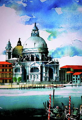 St Mark's Cathedral In Venice Poster by V  Reyes