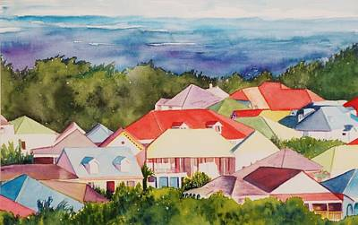 St. Martin Rooftops Poster