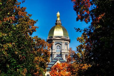 St Mary Atop The Golden Dome Of Notre Dame Poster