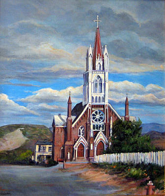 Poster featuring the painting St. Mary Of The Mountains by Donna Tucker