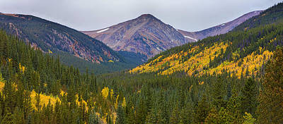 St Mary's Glacier Area Autumn Panorama Poster by James BO  Insogna