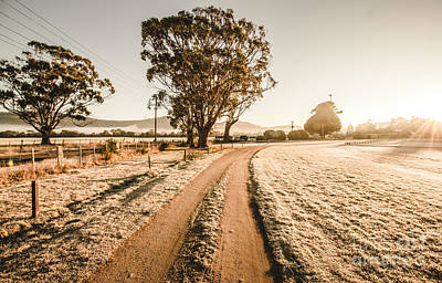 St Marys Winter Country Road Poster by Jorgo Photography - Wall Art Gallery