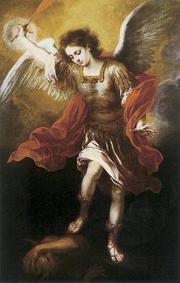 St. Michael Poster by Bartolome Esteban Murillo