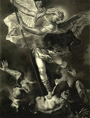St. Michael Vanquishing The Devil Poster