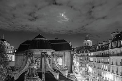 St Nicholas Du Chardonnet, Paris, At Night Poster