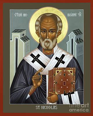 St. Nicholas Of Myra - Rlnic Poster by Br Robert Lentz OFM