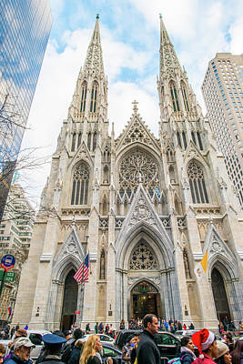 St. Patrick Cathedral In New York Poster