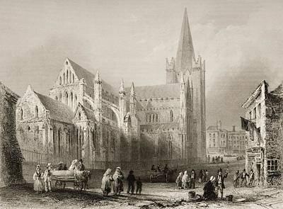 St. Patrick S, Dublin, Ireland. Drawn Poster by Vintage Design Pics