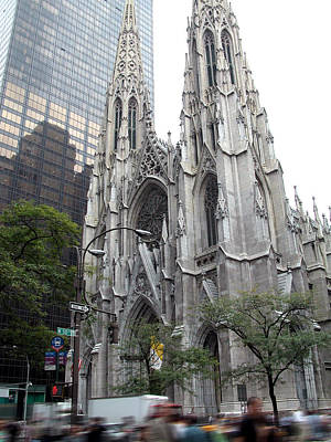St Patrick's Cathedral - Manhattan Poster