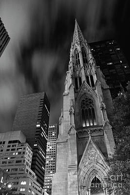 St Patricks Cathedral Poster by Keith Kapple