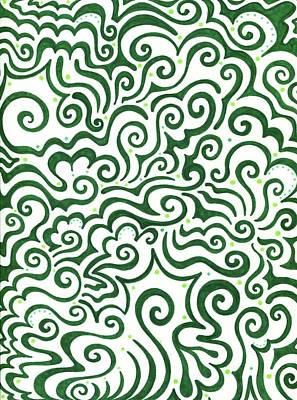 St Patrick's Day Abstract Poster