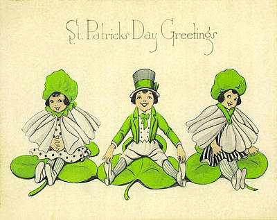 St Patricks Day Greetings Poster by Bill Cannon